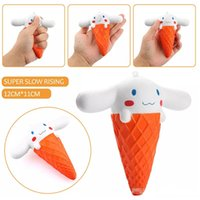 Wholesale Strap Toys For Sale - Hot sale Jumbo Rare Squishy Ice Cream dog Soft Squishy Slow Rising Squeeze Squishies Toys For Cell Phone Pendant Straps Kids Toy