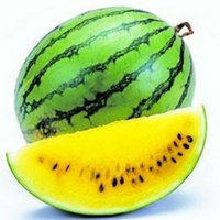 Wholesale Rare Plants Seed Fruit - Rare Yellow Flesh Watermelon Seeds 50PCS Potted Fruit Planting Watermelon Seeds for Home & Garden NON-GMO Edible Fruits