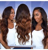 Wholesale Glueless Indian Remy Lace Wigs - Top Quality Ombre Glueless Full Lace Wigs 7A Brazilian Body Wave Full Lace Human Hair Wigs Ombre Lace Front Wig For Black Women