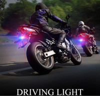 Wholesale Motorcycle Strobe Lights - High power Led motorcycle lamp Car DIY decorative Led flash light strobe warning eagle eye 12V for Parking Reversing Backup
