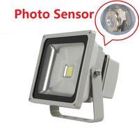 Wholesale lighting photocell sensor resale online - 50W Outdoor Garden Yard IP65 Waterproof Lamp floodlight with photocell Sensor Led Flood Lights AC V