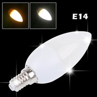 10pcs / lot LED Candle Light Bulb Lamp 2835SMD Haute Luminosité 3W E14 AC200V- 265V Blanc froid / blanc chaud afin $ piste 18Personne