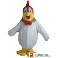 Wholesale Custom Chicken Costume - 8633 White Chicken Mascot costume Custom Mascot Made Mascota