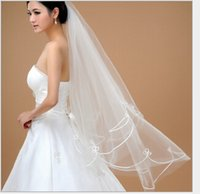 Wholesale Wedding Veils Free Delivery - Vintage Only Fast Delivery Bridal Veils Tulle Satin Edge Elbow Length White Wedding Veil Accessory Free Shipping In Stock QM
