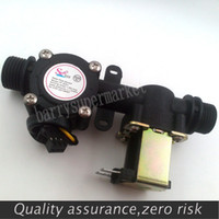 Wholesale Automatic Meter - Wholesale-G1 2 Water flow sensor, water control flow meter automatic billing system for Water heaters, drinking fountains, water dispenser