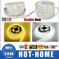 Wholesale Led Strips For Swimming Pools - led strips Silicone Tube IP68 Waterproof 120LEDs M Double Row 600LED SMD 5050 LED Strip 12V White Warm white light For Swimming Pool, Fish