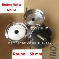Gros-Hot Cheap Badge professionnel bouton Maker Kit / 50mm Bouton Maker Machine / 50mm Moule / 100 Sets Pinback Supply
