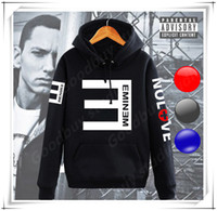 Wholesale Cool Men Sweaters - New Cool Eminem Style Man Long Sleeves Hoodies Sweatshirts Trendy Male Shirt Hip Hop Sport Sweater Fleece Coat Streetwear Hot FASHION SALE