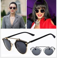 Wholesale Dita Sun Glasses - Wholesale-New High quality cat eye dita Sunglasses women Hollow out vintage eyewear sexy sun glasses for ladies oculos de sol feminino