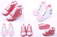 Wholesale Cheap Infant Walking Shoes - Wholesale children casual shoes!Lace soft toddler shoes,white red baby canvas shoes,infant sports walking shoes,cheap shoes.9pairs 18pcs.ZH