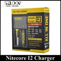 Wholesale Plug Eu For Battery Charger - Best Selling Nitecore I2 Universal Charger for 16340 18650 14500 26650 Battery US EU AU UK Plug 2 in 1 Intellicharger Battery Charger