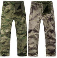 Wholesale Waterproof Camouflage Trousers - Tactical Winter V 4.0 TAD Waterproof SoftShell Camouflage Pants Outdoors Army Shark Skin Sports Thermal Waterproof Fleece Trouser