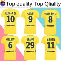10 NEYMAR JR away Soccer Jersey 17 18  29 MBAPPE yellow Soccer Shirt  Customized  9 CAVANI club team Football uniform 2018 size S-4XL ... 124883542