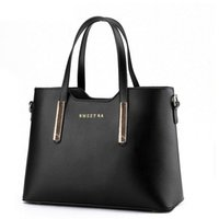 Wholesale Tote Purse Handles - free shipping Fashion Road PU Leather Womens Shoulder Bags Top-Handle Handbag Tote Purse Bag women leather handbags