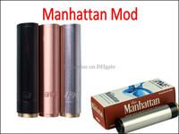e cig mod kupfer großhandel-E Cig Mod Manhattan Mechanische Mod Edelstahl Rot Kupfer Schwarz Mod Batterie Körper Mod für 18650 18350 E Zigarette Batterie Großen Dampf Artikel