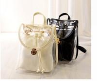 koreanische süßigkeiten farbe rucksack großhandel-2016 neue koreanische Süßigkeit Schultasche Strandtaschen Mädchen Gelee Farbe Lucency Taschen Lady Rucksack Kinder Taschen Kinder lässig Tasche