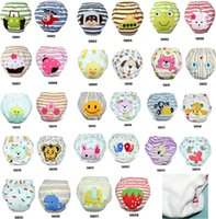 Wholesale Potty Training Pants For Infants - EMS Free Baby Waterproof Reusable Potty Training Pants 28 designs Infant Learning Pants For 0-3T 36Pc Lot