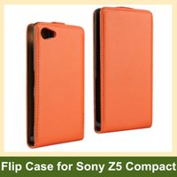 Wholesale magnetic sony xperia for sale – best Fashion Genuine Leaher Vertical Flip Cover Case for Sony Xperia Z5 Compact Z5 Mini E5803 E5823 with Magnetic Snap Drop Shipping