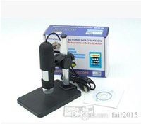 Wholesale-1000x USB Digital Microscope + holder (nuevo), 8-LED Endoscopio con Measurement Software usb microscopio
