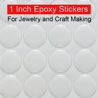 Wholesale Epoxy Sticker Clear - 1 inch epoxy stickers adhesive circle stickers Self Adhesive Stickers 3D effect Clear Round Epoxy stickers Domes 100pcs