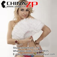 Wholesale Cheap Marabou - Wholesale and Retail from Factory www.ywgy.cn Cheap Handmade Dyed White Marabou Feather Hand Fan for Dance