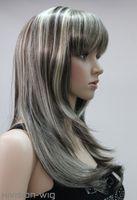 ingrosso belle donne di capelli lunghi-spedizione gratuita bella affascinante hot 11 colori lungo rettilineo ha frangia donne femminile signora parrucca capelli Perruque # L.FANLAN