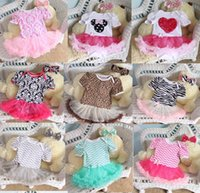 Wholesale Wholesale Toddler Ruffle Dress - 2015 Newborn Chevron Tutu Romper Dress & headbands headwrap Toddler Zig zag Ruffles Tutu Rompers Plain tutu Jumpsuits baby Romper Dress