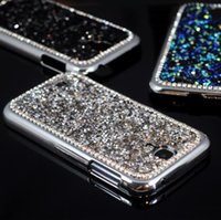 Wholesale Galaxy S4 3d Bling - Wholesale-For Galaxy S4 Luxury Bling 3D Rhinestone Diamond Glitter Hard Back Case Cover For Samsung Galaxy S4 mobile phone bag free ship