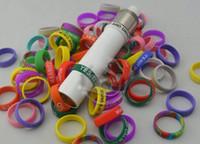 Wholesale Wholesale 91 Russian Atomizer - E cigarette silicone band vape ring mod ring for 18650 mechanical mods little boy doge dark horse Russian 91% igo w3 plume veil rda atomizer