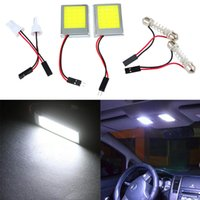 Wholesale Aluminum T10 SMD Dome Festoon Car Interior License Plate COB LED Lamps Light DHL Free