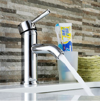 Wholesale Bathroom Ceramic Design - 2015 new design stainless steel chrome bathroom sink faucet single handle single hole bathroom basin faucets mixers taps