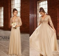 Wholesale elegant organza evening dresses - Hot Sexy Long Dress Party Evening Elegant vestidos noiva V-Neck A-Line Chiffon Prom Dress With Crystal 2015