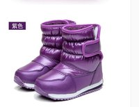 Wholesale Shoes Boots For Toddler - New Thicken Warm plush child boots shoes for baby toddler shoes winter boys girls snow boots shoes classical kids snow boots