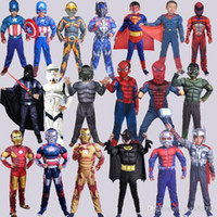 Wholesale Super Man Costumes For Girls - Superhero cosplay iron man hulk captain america spiderman Flash batman superman Robin children Halloween Christmas Costume for girls Clothes