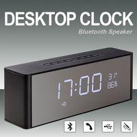 verdrahtete alarme großhandel-Top Bluetooth Lautsprecher Freisprechanruf LP-C06 Portable Wireless Lautsprecher Wired AUX BT 4.2 Lautsprecher Unterstützung FM Radico Alarm 2200mAh Li-Batterie