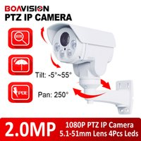 Wholesale Nightvision Zoom - 2016 New Rotary 1080P(Full-HD) Outdoor Bullet PTZ IP Camera With POE,Card Slot 2.0MP 10x zoom,IR 80m NightVision CCTV IP Camera,SD Card Slot