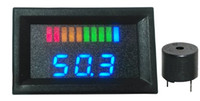 indicador azul digital al por mayor-Indicador de batería digital con LED de 10 bar Indicador de carga con timbre de indicación de voltaje Carro de golf, motocicleta, 12V a 100V