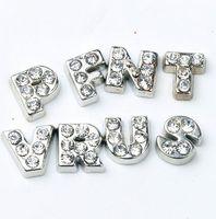 glass charms for jewelry venda por atacado-104 pçs / lote A-Z Carta de Cristal Coração Charme Flutuante para Vidro Memória Viva Locket Jóias Descobertas Componentes