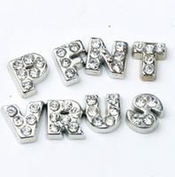 charmes de coeur achat en gros de-104pcs / lot A-Z cristal lettre coeur flottant charme pour verre vivant mémoire médaillon bijoux composants