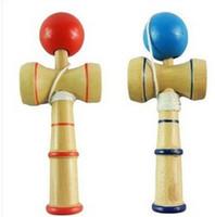 ingrosso giocattolo giapponese della sfera di legno-DHL NUOVO giapponese tradizionale giocattoli in legno kendama palla crack giada spada palla kendama13.5 * 5.5 cm E407