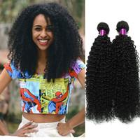 Wholesale 6a brazilian virgin hair kinky resale online - 3 Kinky Curly Virgin Hair Brazilian Curly Virgin Hair Best Curly Human Hair Weave A Unprocessed Virgin Brazilian Kinky On Sale