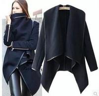 Wholesale Womens Blue Coat Wool - best-selling Fashion Womens Slim Wool Warm Long Coat Jacket Trench Windbreaker Parka Outwear