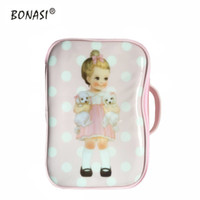 Wholesale Fashion Design Dolls - 2017 Cartoon Doll Mate Girls Design Waterproof Storage Bags Travel Toiletry Bag Leather Make Up Fashion Cosmetic Bag Wash Bag