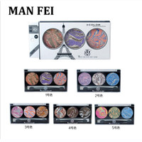 Wholesale Retro Shadow - Wholesale-Hotsale Brand 3 Colors Makeup Eyeshadow Retro Sootiness Mineralized Pigment Eyeshadow Baked Grilled Smoked Eye shadow Palette