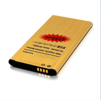 Wholesale High Capacity Golden Battery - best quality High Capacity 4350mah Replacement Battery for Samsung Galaxy S5 I9600 Golden Business Li-ion Battery free epacket without logo