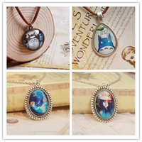 Wholesale Wholesale Kid Necklace Pendants - Anime Miyazaki Hayao Necklaces Totoro Spirited Away Designs for Kids Christmas Jewelry dxl0001