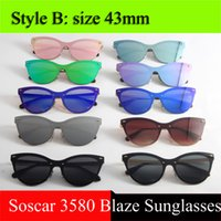 Wholesale Red Fashion Frames Clear - UV400 Brand Designer Sunglasses for Women Fashion Men Polarized Sunglasses 3580 Blaze Sunglasses Gafas de sol Excellent Quality with Box