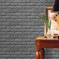 3D Brick Stone Wallpaper Wall Stickers Autoadesivi Pannelli Decalcomania DIY Home Living Room Decoration