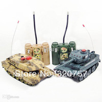 Wholesale Newest RC Tanks HQ508 RC Battle Tank Set Two Infra Red Laser Tank Remote Control Military Tanks RTR Toys