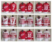 Wholesale 24 Ted - Throwback Detroit Red Wings Hockey Jersey 7 Ted Lindsay 10 Alex Delvecchio 17 Brett Hull 16 Konstantinov 24 Probert Vintage CCM Jerseys